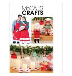 Sew & Make McCall's M6219 SEWING PATTERN - Christmas APRON CANDLE MAT DOLLS #McCalls