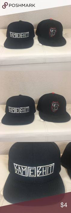 SnapBack Hat Bundle Men's hat bundle. Both have wear and are in fair condition. Price shows condition of hats. Only selling together will not split up. One size 7 1/2. Unsure of the other size  -- PO DRAWER  #bundle #hatbundle #menshatbundle Accessories Hats