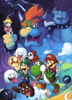 Luigi freaking out and Mario and yoshi laughing at him Super Mario Nintendo, Super Mario Art, Super Mario World, Nintendo Characters, Video Game Characters, Nintendo Games, Super Mario Brothers, Mario Bros, Nintendo World
