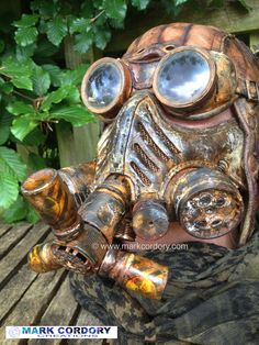 Post Apocalyptic Mad Max style gas mask for Airsoft and LARP. Made by Mark Cordory Creations www.markcordory.com