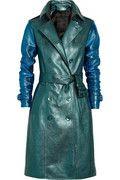 BURBERRY PRORSUM Metallic textured-leather trench coat