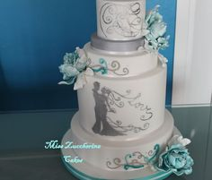 Tiffany Peonies I Was Inspired By The Style For This Wedding Cake It Has Of And A Image Spouses Silver Colour