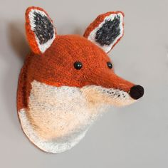 Sincerely Louise knitted Fox Head