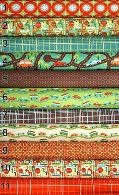 Boy quilt fabrics - Riley Blake Wheels