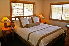 Master Bedroom at the Red Wolf Lodge at Squaw Valley