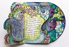 art journal page breathe | Still the breath Divine does move, and the breath divine is Love.""