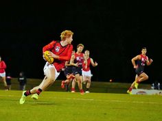 """Round 14 Essendon v Casey Demons @ Casey """"Very Out"""" Fields, 7pm Saturday 22 July 2017 Francis turns with the ball"""