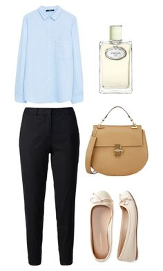 """blue beige"" by acidbath ❤ liked on Polyvore featuring Current/Elliott, MANGO, Aéropostale, Chloé and Prada"