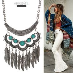 Inspire-se!!! Colar longo para um look de inverno cheio de estilo!!!  Acesse: http://www.versatilacessorios.com.br/co…/colares-longos.html