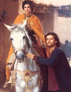 Kingdom of Heaven, Balian ( Orlando Bloom ) and Eva Green as Princess Sibylla
