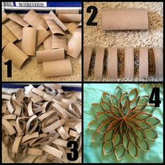 the kc experience: Tutorial: Toilet Paper Tube Flowers