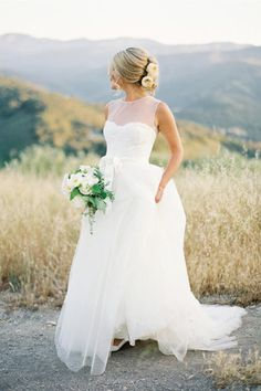 Wonderful Perfect Wedding Dress For The Bride Ideas. Ineffable Perfect Wedding Dress For The Bride Ideas. Illusion Neckline Wedding Dress, Wedding Dress Necklines, Modest Wedding Dresses, Dresses Dresses, Dresses 2016, Simple Country Wedding Dresses, Homecoming Dresses, Simple Elegant Wedding Dress, Simple Gowns