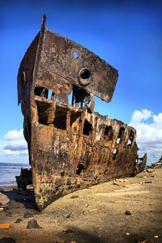 Dead ship in Radcliffe, Australia by GORKATH