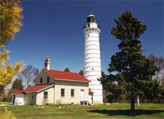 Cana Island Lighthouse, north of Bailey's Harbor, Door County, WI
