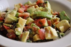 Spicy Balsamic Avocado Salad