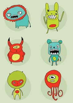 Monsters by ArtByKellie on Etsy