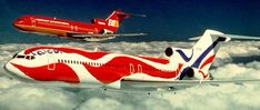 To commemorate the Bicentennial, Calder designed the plane known as the Flying Colors of the United States.