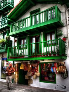 Traditional house, Hondarribia