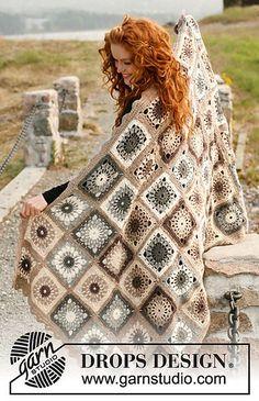 """Ravelry: 131-52 """"Latte Macchiato"""" - Blanket in Lima pattern by DROPS design"""