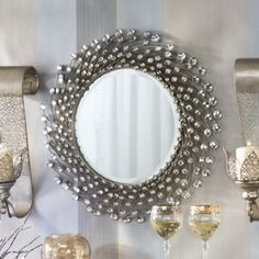Sparkle and shine adds pizzazz to any any room. DIY tip: Buy a plain mirror and decorate it to suit your liking with intricate beading.