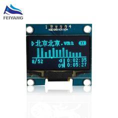 """A9 1ピースsamioreロボット1.3 """"oledモジュールブルーカラーiic 4ピン128 × 64 1.3インチ有機el液晶ledディスプレイモジュール1.3"""" iic i2c通信"""