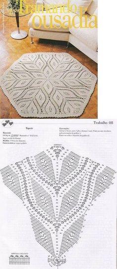 Ideas Crochet Mandala Carpet Doily Rug For 2019 Filet Crochet, Crochet Doily Rug, Crochet Carpet, Crochet Diagram, Crochet Home, Diy Crochet, Crochet Crafts, Crochet Projects, Ravelry Crochet
