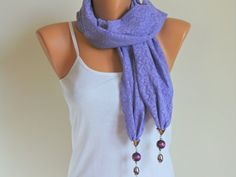 Purple Lace Scarf - Lace scarf - Shawl scarf - belt - bandana - hair-band - accessories - bridesmaid gift - HANDMADE Scarf on Etsy, $12.00