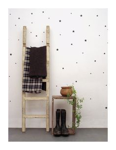 Black star wall decals