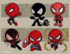 Iron Man, Thor, Jeff Goldblum, discover the evolution of pop culture heroes by Jeff Victor - - Marvel Avengers, Ms Marvel, Captain Marvel, Chibi Marvel, Marvel Heroes, Art Spiderman, Chibi Spiderman, Logo Super Heros, Mega Pokemon