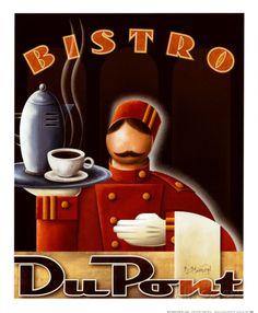 Bistro DuPont Art Print by Kungl, Michael L. 45 x 56cm