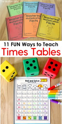 11 Fun Ways to Teach Times Tables! Mastering multiplication facts is such an important skill in elementary. If students can master the basics, all other math concepts are so much easier to learn. Check out these engaging, effective and fun ways to build s Math For Kids, Fun Math, Math Help, How To Teach Math, Kids Fun, Math Resources, Math Activities, Division Activities, Educational Activities