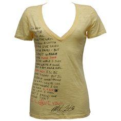 Dear Santa: Lyrics Girls Burnout V-neck -Michael Franti: Speargear Shop  $30