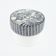 Daily artwork on the lid of lip balm jars (jar #22 out of 366, polymer clay) http://lisapavelka.typepad.com