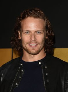 *Sam Heughan (Jamie Fraser) and Caitriona Balfe (Claire Fraser) at the Starz Golden Globes Party for Outlander Season Two Sam Heughan Outlander, Serie Outlander, Sam Heughan Caitriona Balfe, Outlander Casting, Outlander 2016, Sam Hueghan, Sam And Cait, Scottish Actors, British Actors