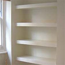 Alcove floating shelves DIY