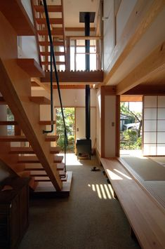 通り土間と芝屋根のある家|HouseNote(ハウスノート) Modern Japanese Interior, Japanese Modern House, Traditional Japanese House, Japanese Architecture, Space Architecture, Mcm House, Small Tiny House, Interior Design Living Room, Ideal Home