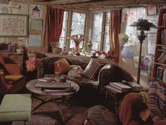 The living room and kitchen from the Weasleys' house, The Burrow, located on the outskirts of Ottery St. Catchpole in Devon}