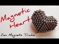 Step by step DIY tutorial on how to make a magnetic heart out of one magnet cube. Cool Shapes, Diy Tutorial, Balls, Cube, Magnets, Make It Yourself, Heart, Youtube, Crafts