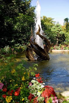 Sturgeon Fountain in Butchart Gardens, British Columbia, Canada  by srosthal, via Flickr