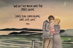 This was a custom nursery watercolor with Phish lyrics. The couple portrayed in the picture resemble their true self. Watercolor Paper, Watercolor Paintings, Pastel Artwork, Phish, Creative Artwork, Painting Frames, Lyrics, Nursery, Couple