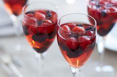 Summer wine and berry jellies recipe