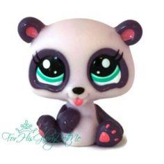 ✵Littlest Pet Shop✵LPS✵#2323✵MINI BABY LAVENDER PURPLE PANDA BEAR✵PETRIPLETS✵HTF