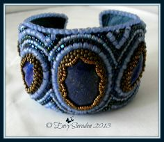 Beadembroidery cuff by EnvySieraden on Etsy, €100.00