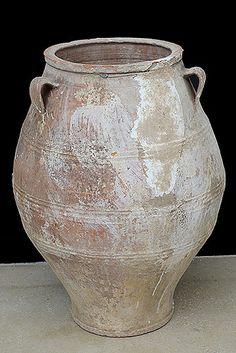 Greek Antique Three-Handle Terracotta Pot