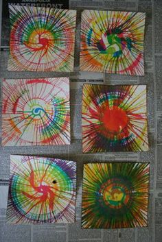 Pink and Green Mama: * Kid-Friendly Fun: Liquid Watercolors Spin Art Kindergarten Art, Preschool Art, Liquid Watercolor, Ecole Art, Toddler Art, Process Art, Art Party, Art Club, Art Festival