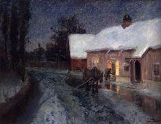 """THAULOW, Fritz (b. 1847, Oslo, d. 1906, Volendam) Night """