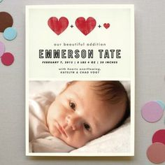 Baby announcement card from Minted.