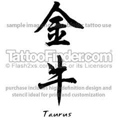 TattooFinder.com: Scripted Taurus by Chris Wu