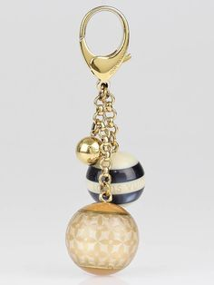 Louis Vuitton Blue/Beige Resin Monogram Mini Lin Key Holder and Bag Charm -