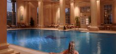 The iconic indoor pool at the Chewton Glen